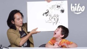 Barn beskriva en Illustrator deras största rädsla