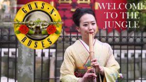 """""""Welcome to the Jungle"""" und """"Back in Black"""" auf traditionellen japanischen Instrumenten gespielt"""