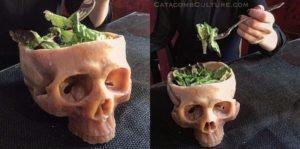 Human Skull Bowl - Schädel Schüssel
