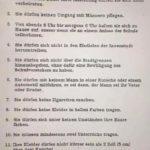 Regels voor leraren 1915 in Zürich