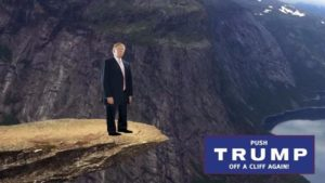 Push Trump Off A Cliff Again