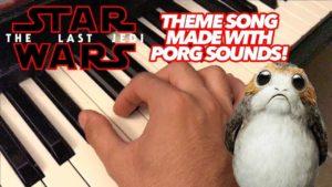 Star Wars Theme volledig worden gemaakt klinkt Porg