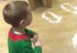 Wenn du als Kind die Fussspuren des Weihnachtsmann findest