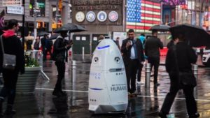 Animal rights organization put a robot against homeless people
