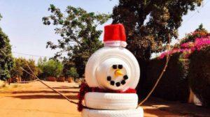 Wie man einen Schneemann ohne Schnee baut