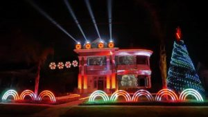 Star Wars Christmas Light Show 2017