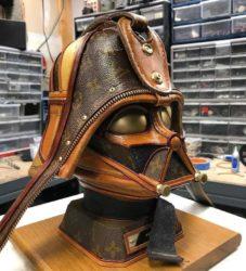 Star Wars sculptures made of Louis Vuitton bags