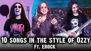 Ten pop songs in the style of Ozzy Osbourne