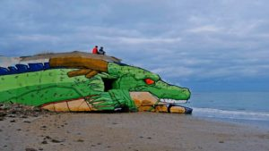 bunkers remodeladas na praia de kite