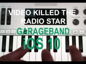 "Dieses Cover von ""Video killed the radio star"" komplatt werd opgenomen op de tablet"