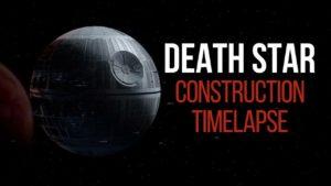 A construção da Estrela da Morte em movimento rápido