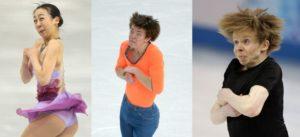 De gezichten van Olympisch kunstschaatsster