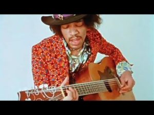 Jimi Hendrix On An Acoustic Guitar