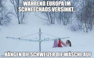 Während Europa im Schneechaos versinkt...