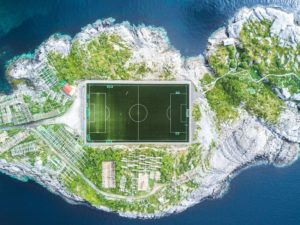 Den Henningsvær Fussballstadion i Norge