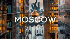 Moskva fra perspektivet af en drone