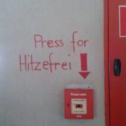 Press for Hitzefrei