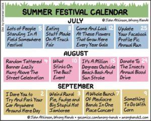 Summer Festival Kalender