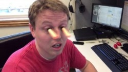 Nerf-Munition auf den Pupillen